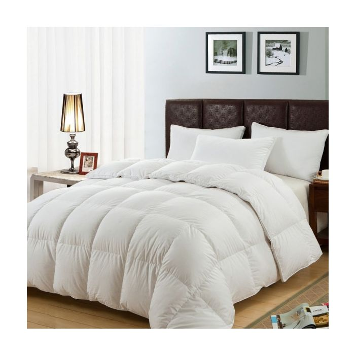 soft 13.5 tog  microfibre duvet with satin stripe cover - 4 sizes