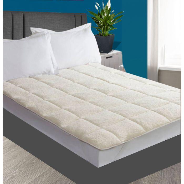 Teddy fleece mattress topper - 4  sizes
