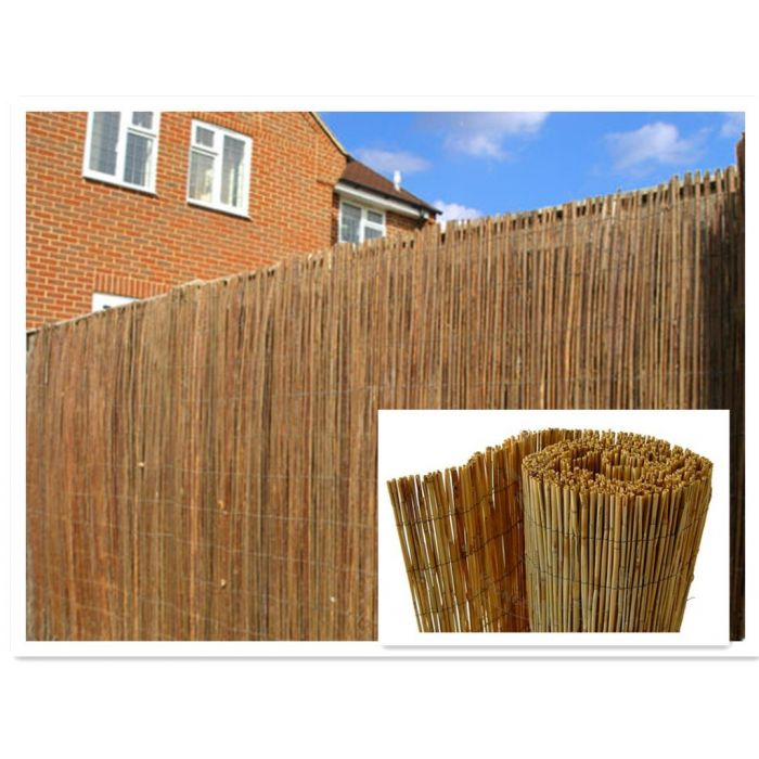 natural peeled reed fencing / screening - 2 sizes
