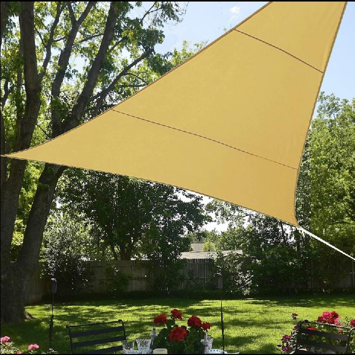 large triangle shade sail - 2 colours