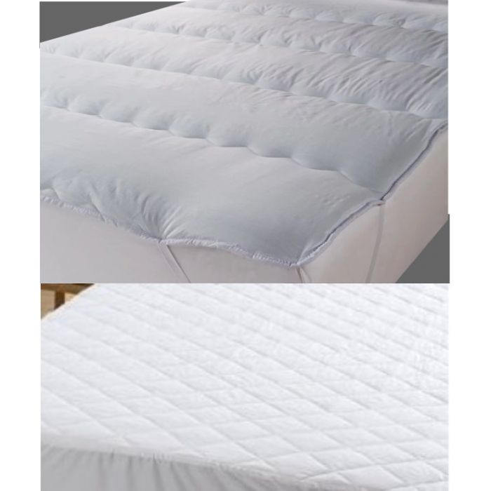 2 inch microfibre topper with quilted mattress protector set