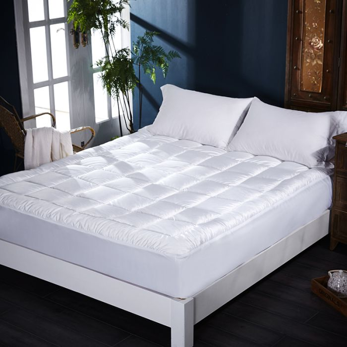 extra soft plush 5 cms mattress topper with side skirt - 4 sizes