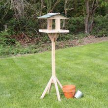 Freestanding Wooden Bird Table