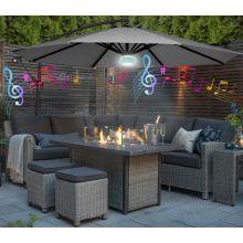 Garden LED Bluetooth banana parasol FB