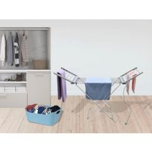 free standing heated clothes airer with wings